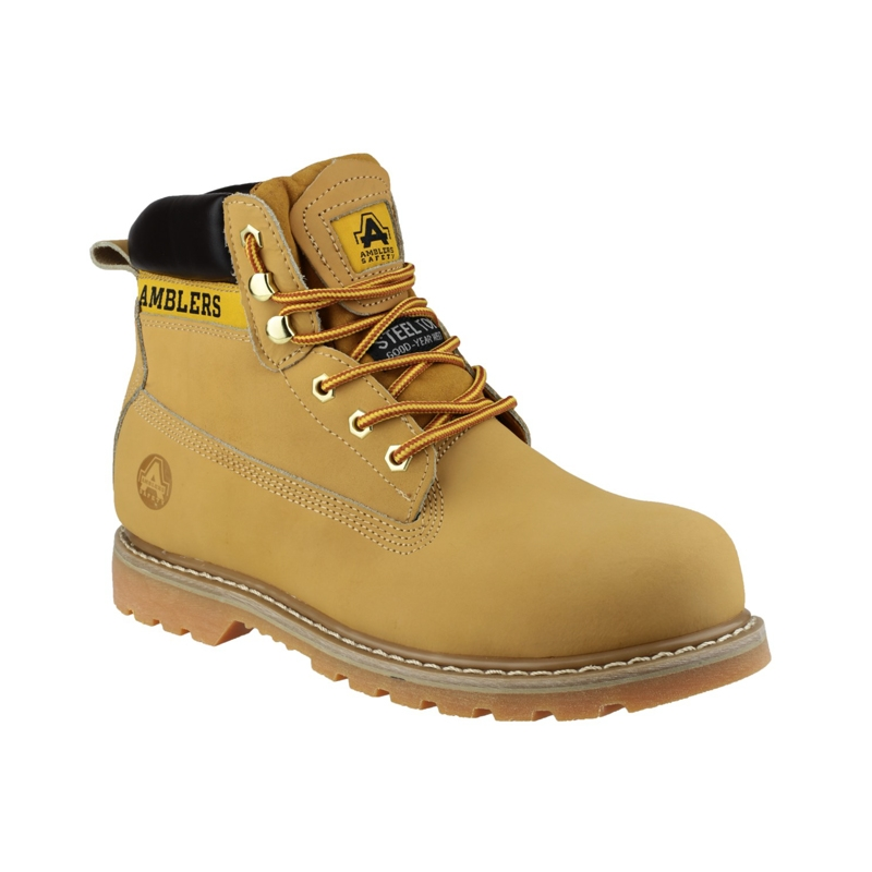 ded7ad3a833 Steel Toe Cap Safety Boots in Honey FS7 by Amblers - Size 4 to 13 ...