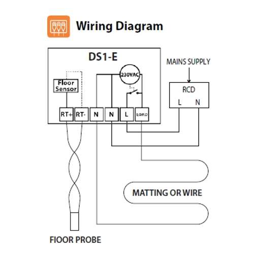 Glo Underfloor Heating Wiring Diagram : Thermostat manual dial for underfloor heating systems by