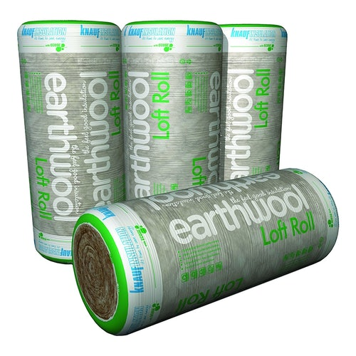 Knauf Loft Roll Insulation 44 Earthwool Combi-Cut 200mm - 5.93m2 Pack