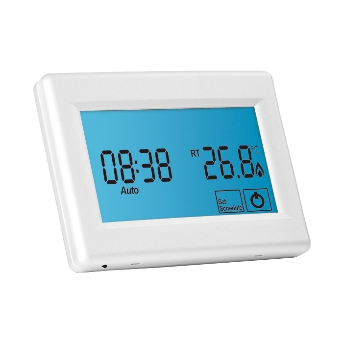 Video of Touchscreen Thermostat for Underfloor Heating Systems - White