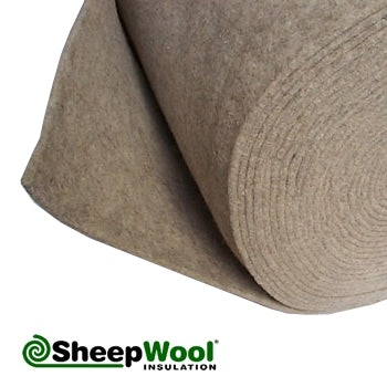 Acoustic silentwool carpet underlay 100pc natural 25m x for Wool insulation cost