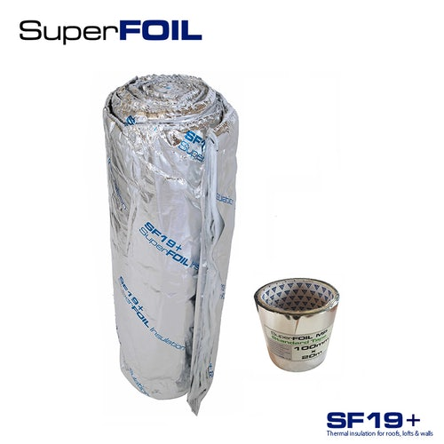 Multi-layer Foil Insulation SF19+ and Tape by SuperFOIL - 1.5m x 10m Roll