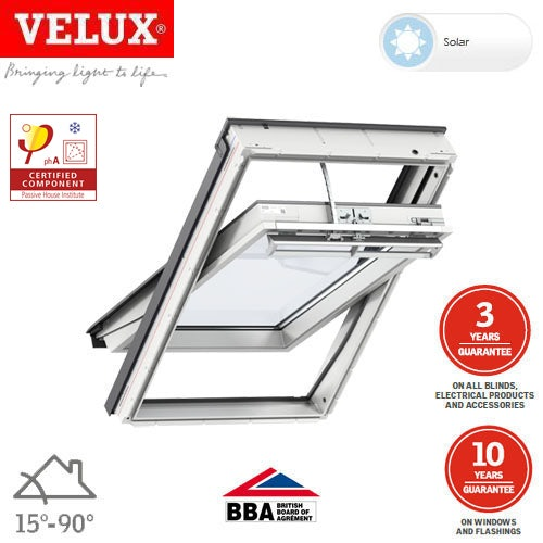 Video of VELUX PassivHaus Centre-Pivot Solar GGU MK06 008230 White - 780mm x 1180mm