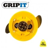 Grip It 15mm Yellow Plasterboard Fixings 142kg Max Load - Pack of 4