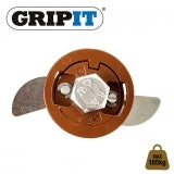 Grip It 20mm Brown Plasterboard Fixings 185kg Max Load - Pack of 4