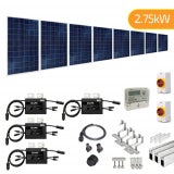 2.75kW Plug-In Solar Tile & Slate New Build Roof Mount Solar Panel Kit